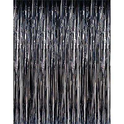 Rideau métallique à franges noires
