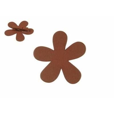12 Marques Places Fleurs En Bois Chocolat