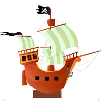 Centre de table bateau de pirate