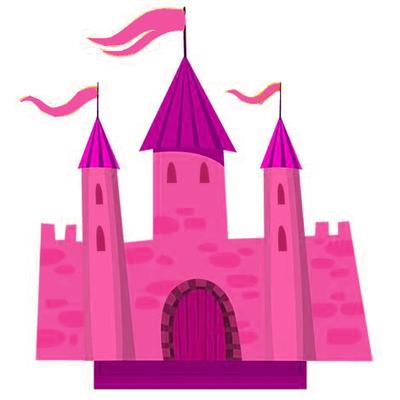 centre de table château de princesse
