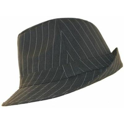 Chapeau de Gangster noir rayé blanc