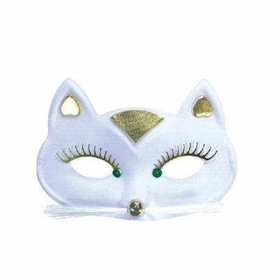 Loup Masque de Chat Blanc