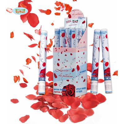 Canon à confettis coeurs rouges