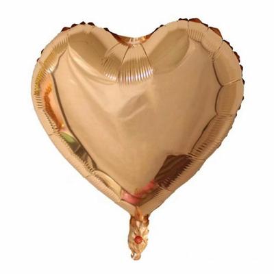 Ballon coeur rose gold