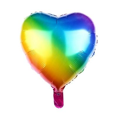 Ballon coeur arc en ciel