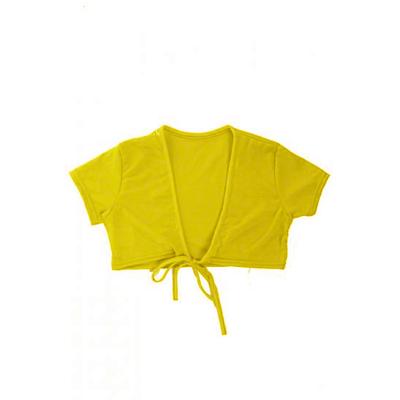 Cache coeur manches courtes enfant jaune