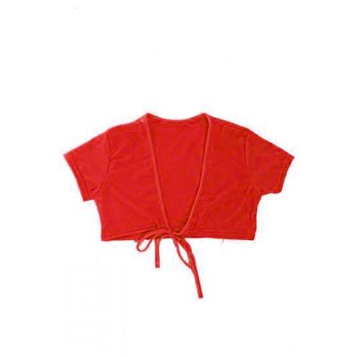 Cache coeur enfant manches courtes rouge