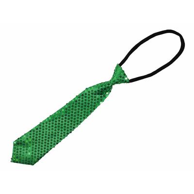 Cravate courte à paillettes vertes