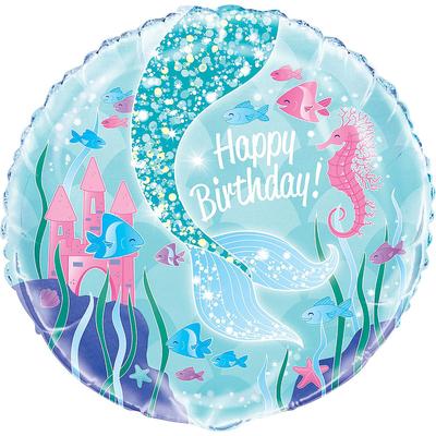 Ballon joyeux anniversaire sirène