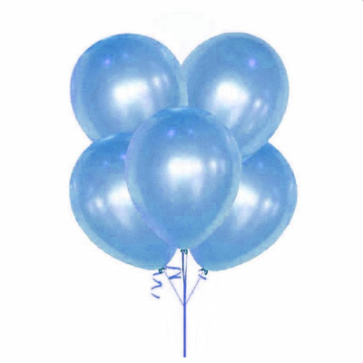 10 ballons métallisés bleu lagon