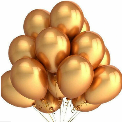 10 ballons métallisés or