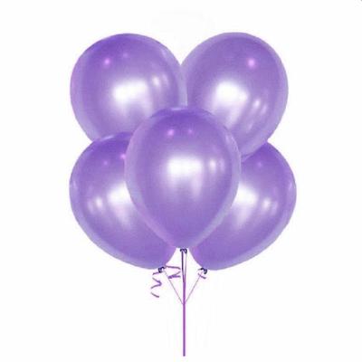 10 ballons métallisés violet