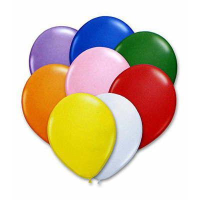 12 ballons latex multicolores