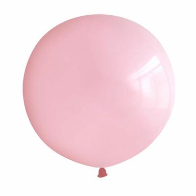 Ballon géant en latex rose pastel