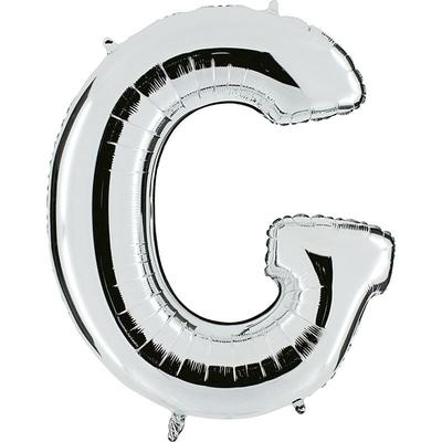 Ballon mylar lettre G argent 104 cm
