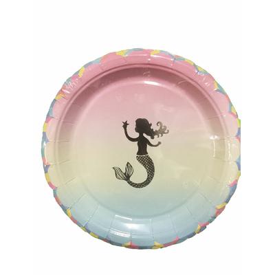 Assiettes 24 cm thème sirène