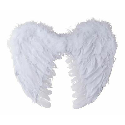 Ailes d'ange en plumes blanches 50 cm