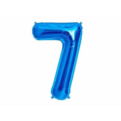 Ballon géant chiffre 7 aluminium bleu 104 cm