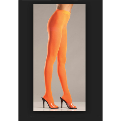 Collant opaque orange fluo
