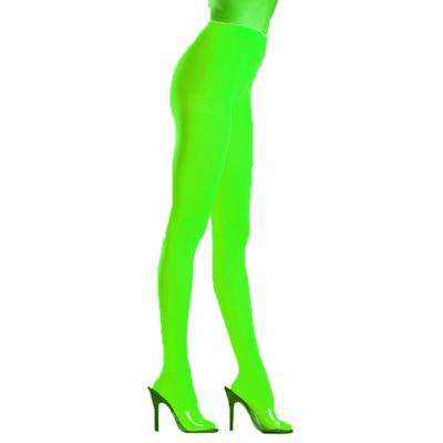 Collants opaques vert fluo