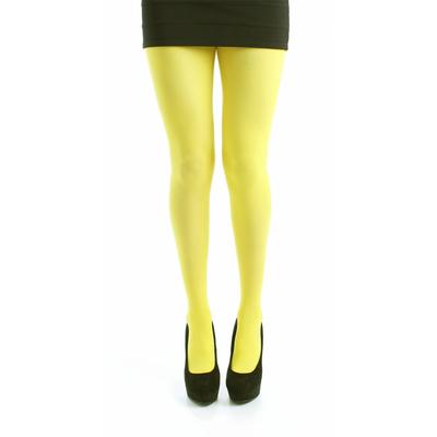 Collants opaques jaunes