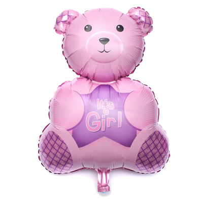 Ballon géant mylar ours rose