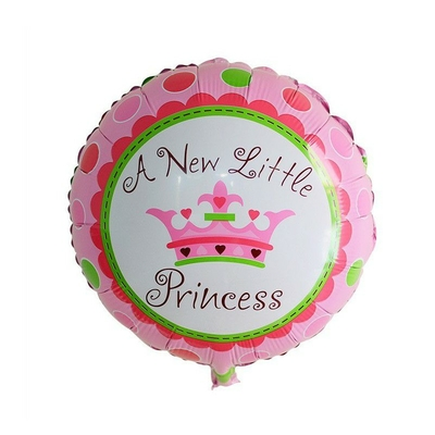 Ballon A new little Princess en aluminium