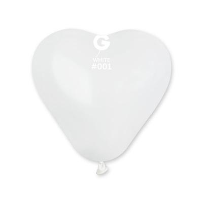 3 ballons géants coeurs blancs