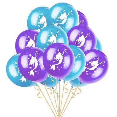 8 ballons latex sirène