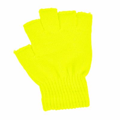 Mitaines acrylique fluo jaune