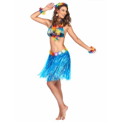Jupe Hawaïenne Courte Bleue