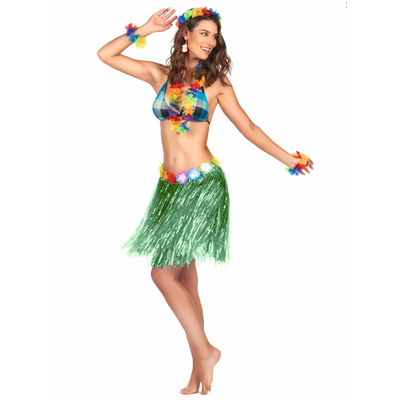 Jupe Hawaïenne Courte Verte
