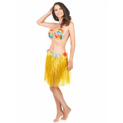 Jupe Hawaïenne Courte Jaune