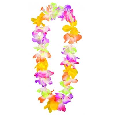 Collier Hawaïen luxe Tissu multicolore