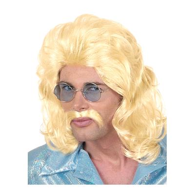 Perruque 118 218 Blonde Avec Moustache