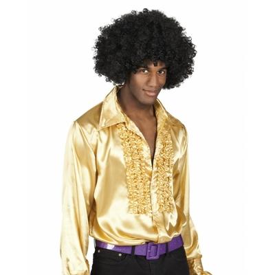 Chemise disco homme dorée