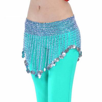 ceinture de danse orientale perle turquoises