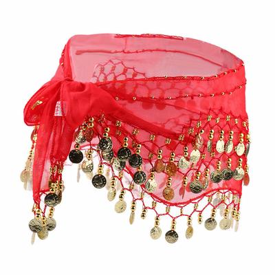 Ceinture ou foulard de danse oriental rouge