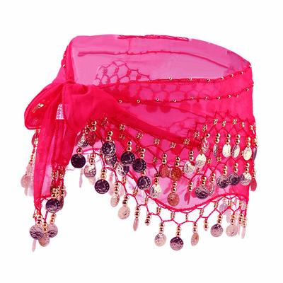 Ceinture ou foulard de danse Oriental fuschia