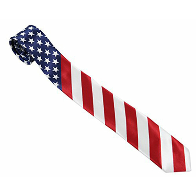 Cravate motif drapeau américain USA