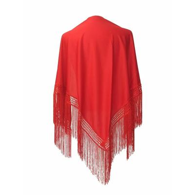 Châle espagnol rouge