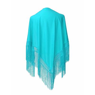 Châle espagnol bleu turquoise