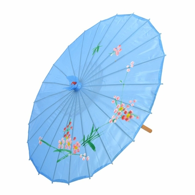 Ombrelle chinoise bleue 45 cm