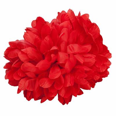 Pince chouchou fleur rouge
