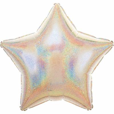 Ballon mylar aluminium étoile argent laser