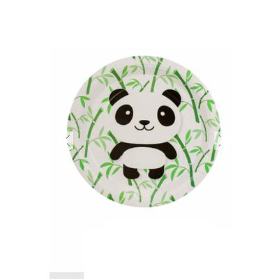 12 assiettes thème Panda kawaii