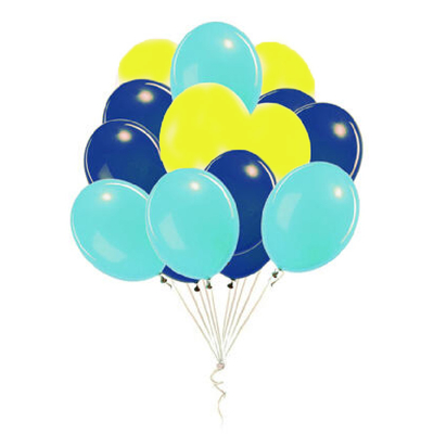 Bouquet de 12 ballons latex Dory