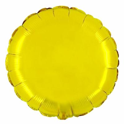 Ballon mylar aluminium rond or