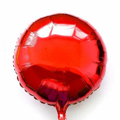 Ballon mylar aluminium rond rouge