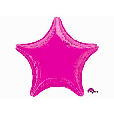 Ballon mylar aluminium étoile fuchsai
